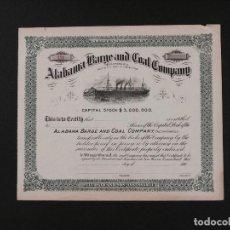 Coleccionismo Acciones Extranjeras: EEUU, ALABAMA BARGE AND COAL COMPANY. Lote 69489305