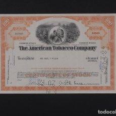 Coleccionismo Acciones Extranjeras: EEUU, THE AMERICAN TOBACCO COMPANY, NEW JERSEY 1966. Lote 69503321