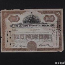 Coleccionismo Acciones Extranjeras: EEUU, THE CENTRAL FOUNDRY COMPANY 19…. Lote 69503669