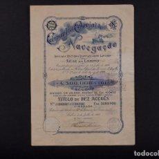Coleccionismo Acciones Extranjeras: COMPAÑÍA COLONIAL DE NAVEGACIÓN, LISBOA 1922. Lote 72751931