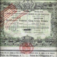 Coleccionismo Acciones Extranjeras: COMPANHIA REAL DOS CAMINHOS DE FERRO PORTUGUEZES. Lote 73050363