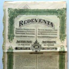 Coleccionismo Acciones Extranjeras: REDEVENTA CERTIFICADO DE UNA ACCIÓN RUMANIA 1925. Lote 73050503