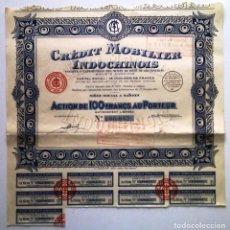 Coleccionismo Acciones Extranjeras: CRÉDIT MOBILIER INDOCHINOIS. Lote 73051643