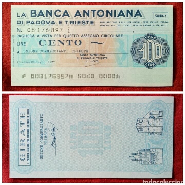PAGARÉ BANCARIO ITALIA 100 LIRAS 1977 (Coleccionismo - Acciones Internacionales)