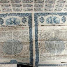 Coleccionismo Acciones Extranjeras: ACCION ELECTRICA , CUBAN ELECTRIC, COMPAÑIA CUBANA ELECTRICIDAD, 1950 , 100 PESOS CUBA ,ORIGINAL , J. Lote 145631100