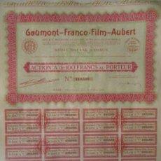 Coleccionismo Acciones Extranjeras: ANTIGUA ACCIÓN, GAUMONT-FRANCO-FILM-AUBERT, 1930. Lote 91274245