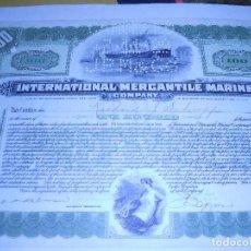 Coleccionismo Acciones Extranjeras: ACCIÓN INTERNATIONAL MERCANTILE MARINE 1928. Lote 92061180