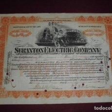 Coleccionismo Acciones Extranjeras: ACCION EXTRANJERA,SCRANTON ELECTRIC COMPANY DEL 1909. Lote 94564651