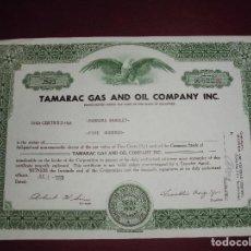 Coleccionismo Acciones Extranjeras: ACCION EXTRANJERA,TAMARAC GAS AND OIL COMPANY INC.DEL 1958. Lote 94564847