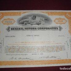 Colecionismo Ações Internacionais: ACCION EXTRANJERA,GENERAL MOTORS CORPORATION,DEL 1956. Lote 94564939