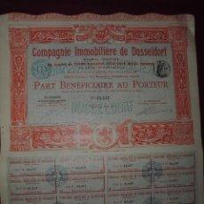 Coleccionismo Acciones Extranjeras: ACCION EXTRANJERA,COMAGNIE IMMOBILIARIERE DE DUSSELDORF DEL 1905. Lote 94565463