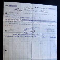 Coleccionismo Acciones Extranjeras: BANCO DE BOLIVIA AÑO 1933 / CERTIFICADO DEPOSITO - ACCIONES DE LA CERVECERIA BOLIVIANA NACIONAL. Lote 95686699