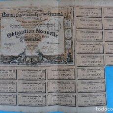 Coleccionismo Acciones Extranjeras: ACCION CANAL INTEROCEANICO DE PANAMA , OBLIGACION NOUVELLE , 1886 , RARA , ORIGINAL ,AC. Lote 102637923