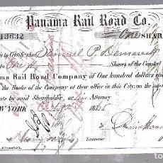 Coleccionismo Acciones Extranjeras: PANAMA / USA. PANAMA RAIL ROAD CO. 1865. VER IMAGEN. Lote 103014507