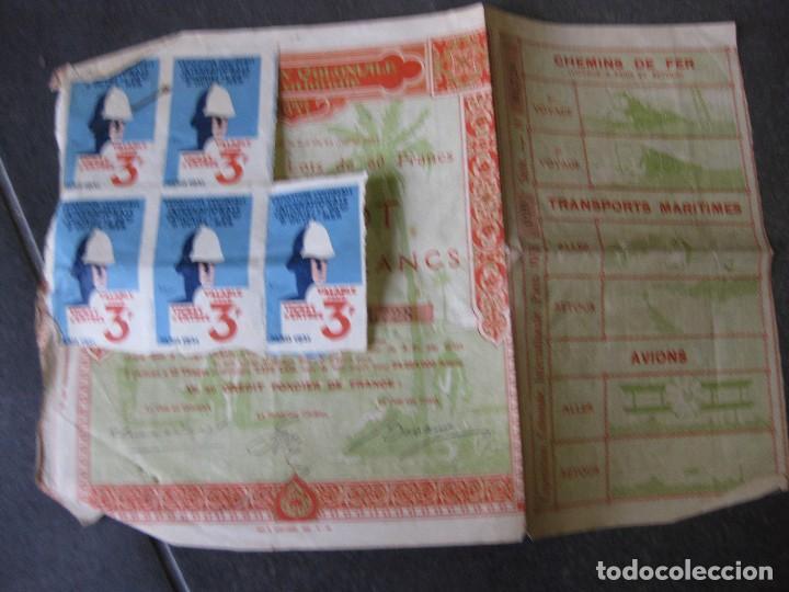 BONOS Y 5 TIQUET DE ENTRADA . EXPOSITION COLONIALE PARIS 1931 EXPOSICION COLONIAL ACCION (Coleccionismo - Acciones Internacionales)