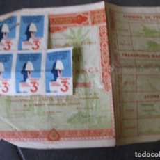 Coleccionismo Acciones Extranjeras: BONOS Y 5 TIQUET DE ENTRADA . EXPOSITION COLONIALE PARIS 1931 EXPOSICION COLONIAL ACCION . Lote 103048219