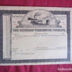 Coleccionismo Acciones Extranjeras: ANTIGUA ACCÓN THE SANTIAGO WAREHOUSE COMPANY.. Lote 103335683
