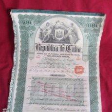 Coleccionismo Acciones Extranjeras: ANTIGUA ACCÓN REPÚBLICA DE CUBA.. Lote 103336631