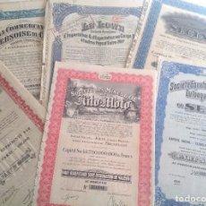 Coleccionismo Acciones Extranjeras: 1920´S - 1940´S * LOTE DE 6 ACCIONES DIFERENTES DEL CONGO BELGA * AFRICA. Lote 103716119