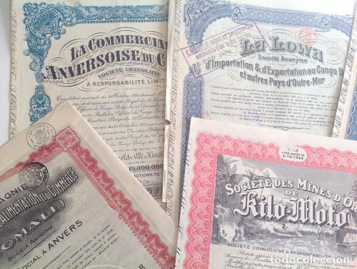 Coleccionismo Acciones Extranjeras: 1920´s - 1940´s * lote de 6 acciones diferentes del CONGO BELGA * AFRICA - Foto 2 - 103716119