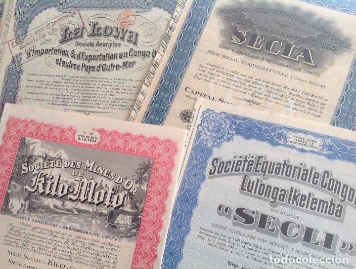 Coleccionismo Acciones Extranjeras: 1920´s - 1940´s * lote de 6 acciones diferentes del CONGO BELGA * AFRICA - Foto 3 - 103716119