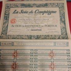 Coleccionismo Acciones Extranjeras: 019. ACTION.ACCION. LA SOIE DE COMPIEGNE. Lote 108671507