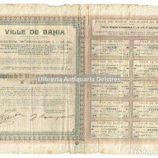 Coleccionismo Acciones Extranjeras: [OBLIGATIONS. BOLSA. BAHIA (BRASIL). 1917] VILLE DE BAHIA (ÉTATS-UNIS DU BRÉSIL). Lote 109526591