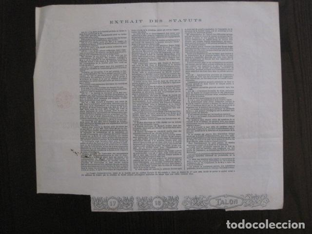 Coleccionismo Acciones Extranjeras: ACCION ECLAIRAGE ELECTRIQUE ST. PETERSBOURG - BRUSELAS 1897 -VER FOTOS-(ACCION -24) - Foto 7 - 112460251