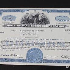 Collectionnisme Actions Internationales: ACCIÓN NÚMERO 160.067 DE LA PHILLIPS VAN HEUSEN CORPORATION,MAYO 1968. Lote 113451511