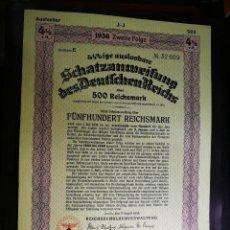 Coleccionismo Acciones Extranjeras: BONO ALEMÁN EMITIDO EN LA SEGUNDA GUERRA MUNDIAL. Lote 116524983