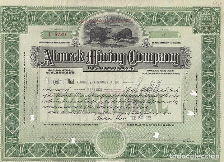 Ahmeek Mining Company of Michigan, 1922
