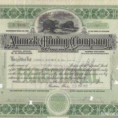 Colecionismo Ações Internacionais: AHMEEK MINING COMPANY OF MICHIGAN, 1922. Lote 116674003