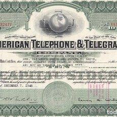 Collezionismo Azioni Internazionali: AMERICAN TELEPHONE & TELEGRAPH, 1948. Lote 116675255