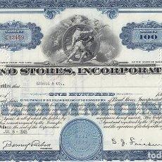 Colecionismo Ações Internacionais: BOND STORES, INCORPORATED, 1945. Lote 116676943