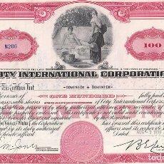Colecionismo Ações Internacionais: COTY INTERNATIONAL CORPORATION, 1939. Lote 116705791