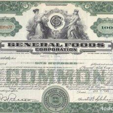Collezionismo Azioni Internazionali: GENERAL FOODS CORPORATION. Lote 116707315