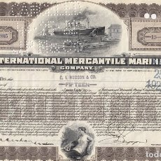 Collectionnisme Actions Internationales: INTERNATIONAL MERCANTILE MARINE COMPANY, 1923. Lote 116708103
