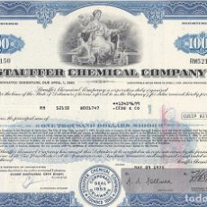 Collectionnisme Actions Internationales: STAUFFER CHEMICAL COMPANY. Lote 116722183