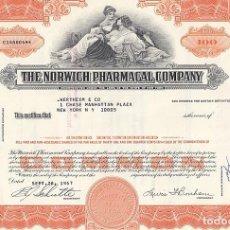 Colecionismo Ações Internacionais: THE NORWICH PHARMACAL COMPANY, 1967. Lote 116723467