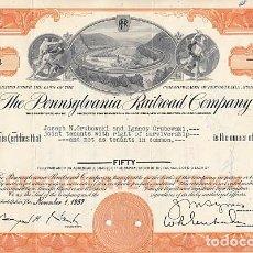 Collezionismo Azioni Internazionali: THE PENNSYLVANIA RAILROAD COMPANY, 1957. Lote 116723519