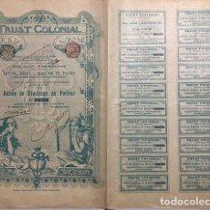Coleccionismo Acciones Extranjeras: TRUST COLONIAL SOCIÉTÉ ANONYME, 1899. Lote 116726823
