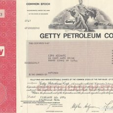 Colecionismo Ações Internacionais: GETTY PETROLEUM CORPORATION, 1991-2. Lote 119587367