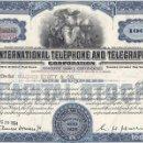 Coleccionismo Acciones Extranjeras: ITT, INTERNATIONAL TELEPHONE AND TELEGRAPH, 1954. Lote 119587535