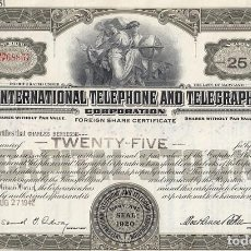 Colecionismo Ações Internacionais: ITT, INTERNATIONAL TELEPHONE AND TELEGRAPH, 1942. Lote 119587631
