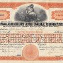 Coleccionismo Acciones Extranjeras: NATIONAL CONDUIT AND CABLE COMPANY, INC 1919. Lote 120503819