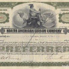 Collezionismo Azioni Internazionali: NORTH AMERICAN EDISON COMPANY, 1926. Lote 120504187