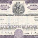 Coleccionismo Acciones Extranjeras: PENNSYLVANIA POWER & LIGHT COMPANY, 1972. Lote 120504503