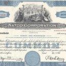 Coleccionismo Acciones Extranjeras: NATCO CORPORATION 1961-2. Lote 120663931