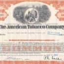 Coleccionismo Acciones Extranjeras: THE AMERICAN TOBACCO COMPANY, 1963. Lote 120665223