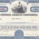 Coleccionismo Acciones Extranjeras: UNIVERSAL AMERICAN CORPORATION, 1967. Lote 120665395